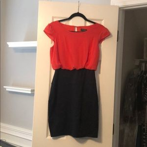 Red/blue dress